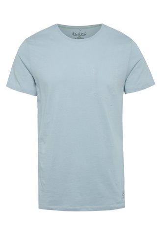 Světle modré regular fit tričko s imitací náprsní kapsy Blend