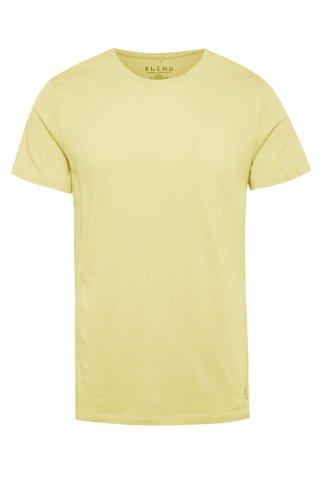 Žluté regular fit tričko s imitací náprsní kapsy Blend