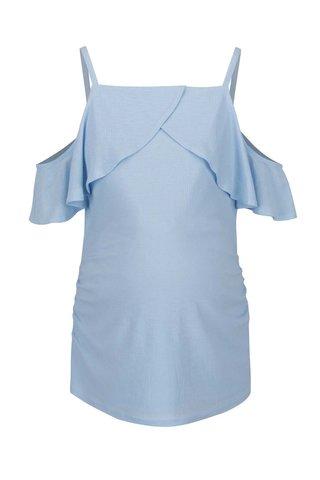 Top bleu cu volan amplu pentru femei inasrcinate Dorothy Perkins  Maternity