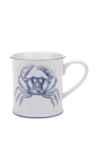 Cana alba Sass & Belle cu imprimeu crab