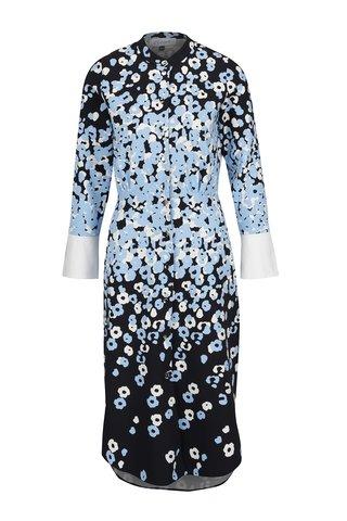 Rochie negru&bleu Closet cu imprimeu floral si nasturi