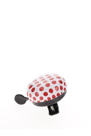 Krémovo-červený puntíkovaný zvonek na kolo CGB