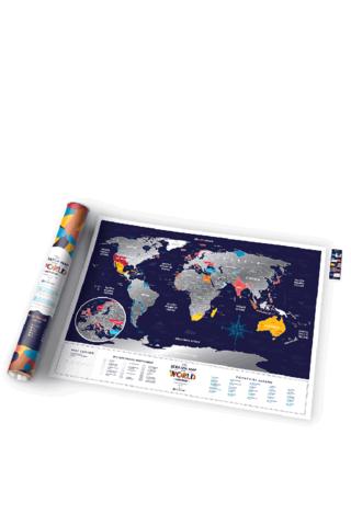 Harta lumii Travel Map razuibila