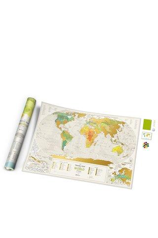 Harta razuibila Travel Map de perete