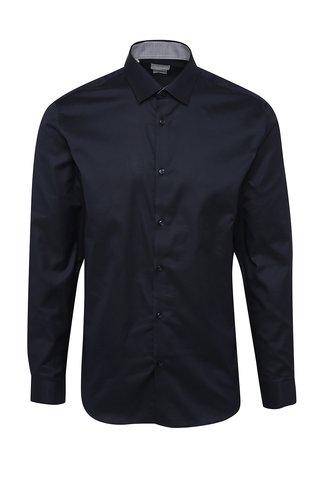 Camasa bleumarin slim fit din bumbac Selectd Homme One New