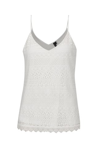 Top alb fildes din dantela VERO MODA Honey