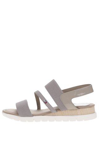 Šedé dámské sandály Tommy Hilfiger