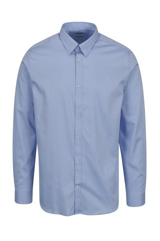 Camasa slim fit bleu din bumbac Selected Homme Done