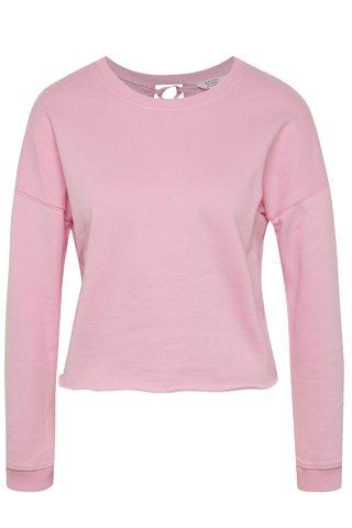 Bluza roz Miss Selfridge Petites cu snur incrucisat pe partea din spate