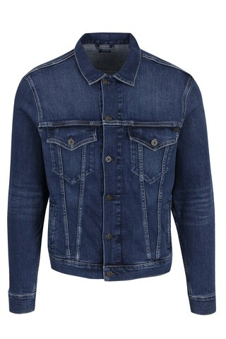 Jacheta albastru inchis Pepe Jeans Pinner din denim