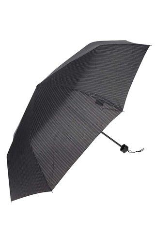 Černý pruhovaný deštník Derby