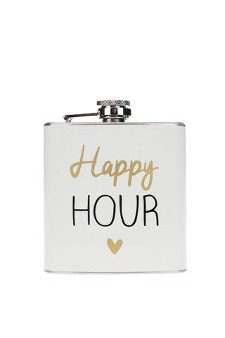 Sticla metalica de buzunar cu print CGB Happy hour