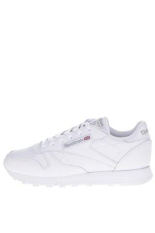 Pantofi sport albi din piele pentru femei Reebok