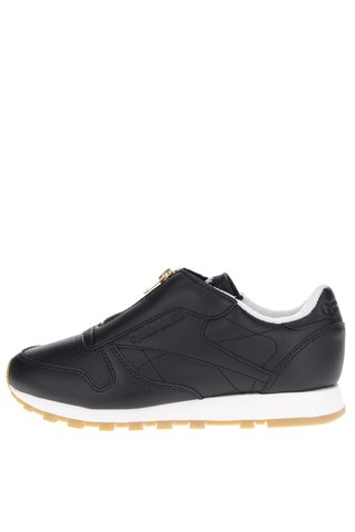 Pantofi sport negri din piele cu fermoar Reebok pentru femei