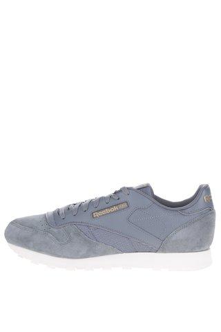 Pantofi sport gri din piele naturala pentru barbati - Reebok Ripple WP