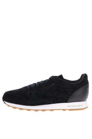 Pantofi sport negri din piele intoarsa Reebok SG