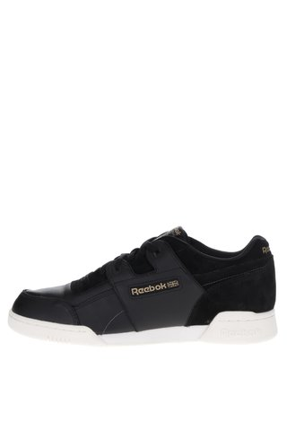 Pantofi sport negri cu detalii piele intoarsa Reebok pentru barbati Workout Plus ALR