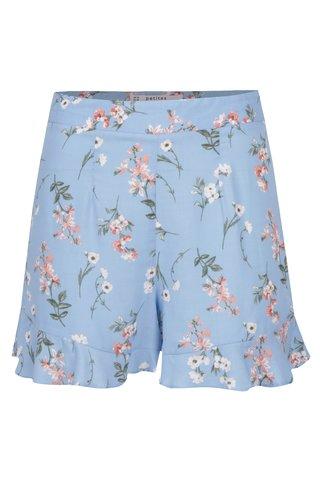 Pantaloni scurti albastri cu print floral  Miss Selfridge Petites
