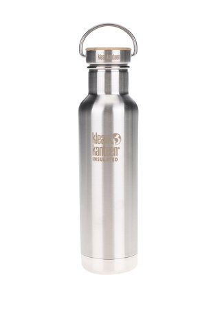Sticla de apa Klean Kanteen Insulated Reflect 592 ml cu dop din bambus