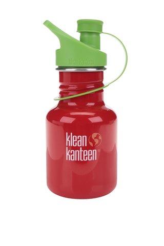 Sticla de apa rosu & verde Klean Kanteen Kid Classic Sport 355 ml
