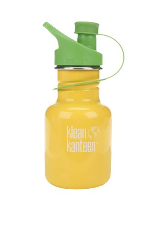 Sticla de apa galben & verde Klean Kanteen Kid Classic Sport 355 ml