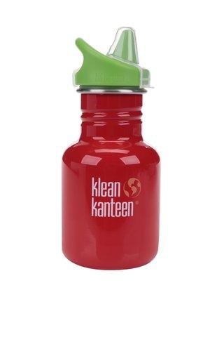 Červená dětská nerezová lahev Klean Kanteen Kid Classic Sippy 355 ml