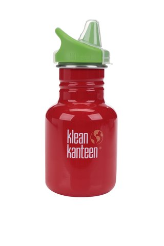 Sticla de apa verde & rosu Klean Kanteen Kid Classic Sippy 355 ml