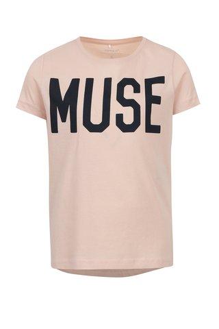 Meruňkové holčičí tričko s potiskem name it Oana