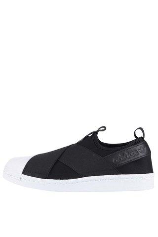 Pantofi sport alb negru cu elastic pentru barbati adidas Originals