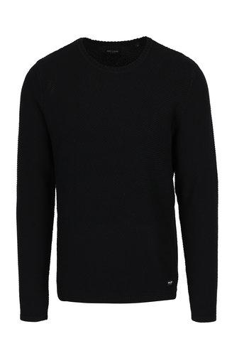 Pulover negru cu model aparent ONLY & SONS Dan