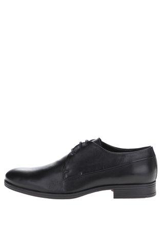 Pantofi negri din piele naturala Jack & Jones Sammy
