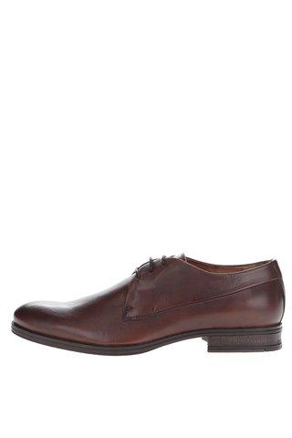 Pantofi maro din piele naturala Jack & Jones Sammy