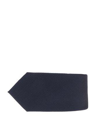 Cravata bleumarin din matase cu model discret Jack & Jones Premium Colombia