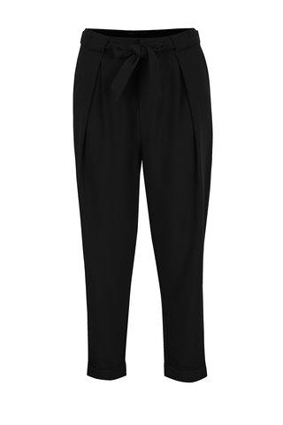 Pantaloni negri cu cordon in talie ONLY Fleetwood
