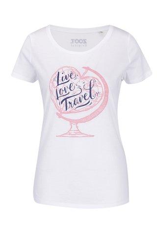Tricou alb ZOOT Original Live Love Travel