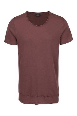 Hnědé tričko s krátkým rukávem Jack & Jones Hem