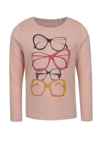 Světle růžové holčičí tričko s potiskem Name it Veenibi