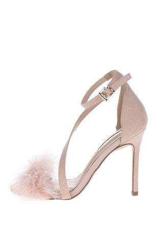 Růžové sandálky v semišové úpravě na jehlovém podpatku Miss KG Flirt