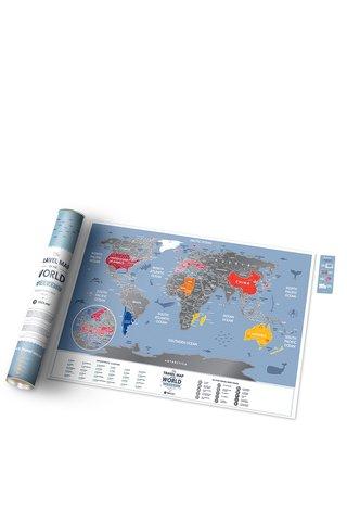 Harta lumii razuibila Travel Map si laminata
