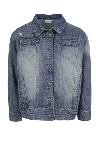 Jacheta albastra din denim pentru fete - name it Balsa