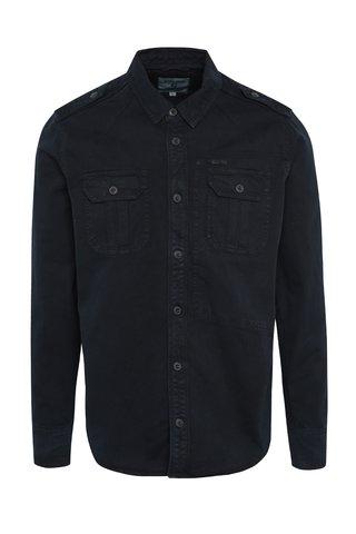 Camasa bleumarin din denim pentru barbati Garcia Jeans