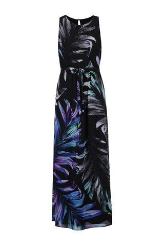 Rochie neagra maxi cu imprimeu floral - M&Co