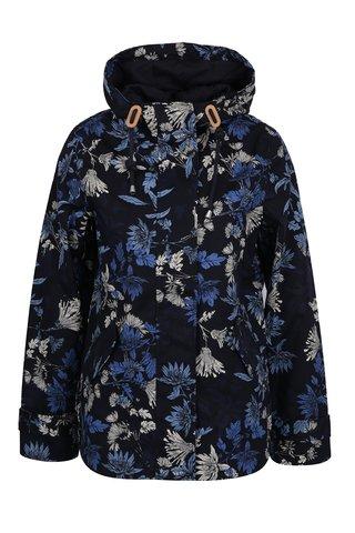 Jacheta impermeabila bleumarin cu print floral pentru femei Tom Joule