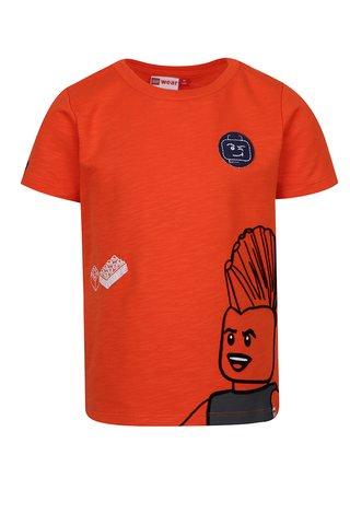 Tricou portocaliu cu print pentru baieti Lego Wear Teo