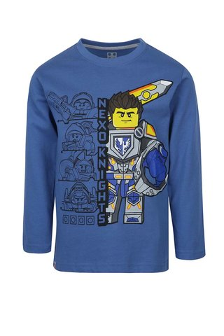 Bluza albastra cu maneci lungi si print Lego Wear pentru baieti