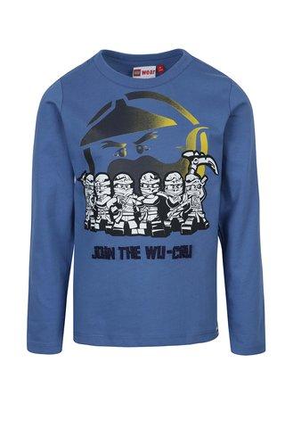 Bluza albastra cu print pentru baieti Lego Wear Teo