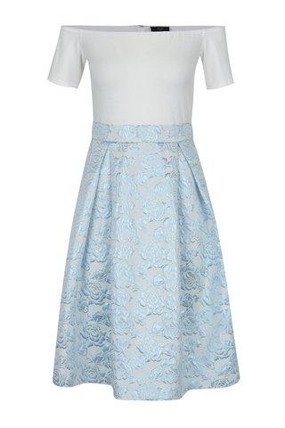 Rochie cu brocart alb & bleu cu aspect 2 in 1- AX Paris