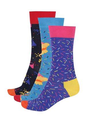 Set cu 3 perechi de sosete cu imprimeu pentru barbati Happy Socks Birthday