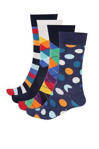 Set de 4 perechi de sosete pentru barbati Happy Socks Mix
