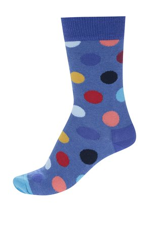 Sosete albastre cu buline Happy Socks Big Dot